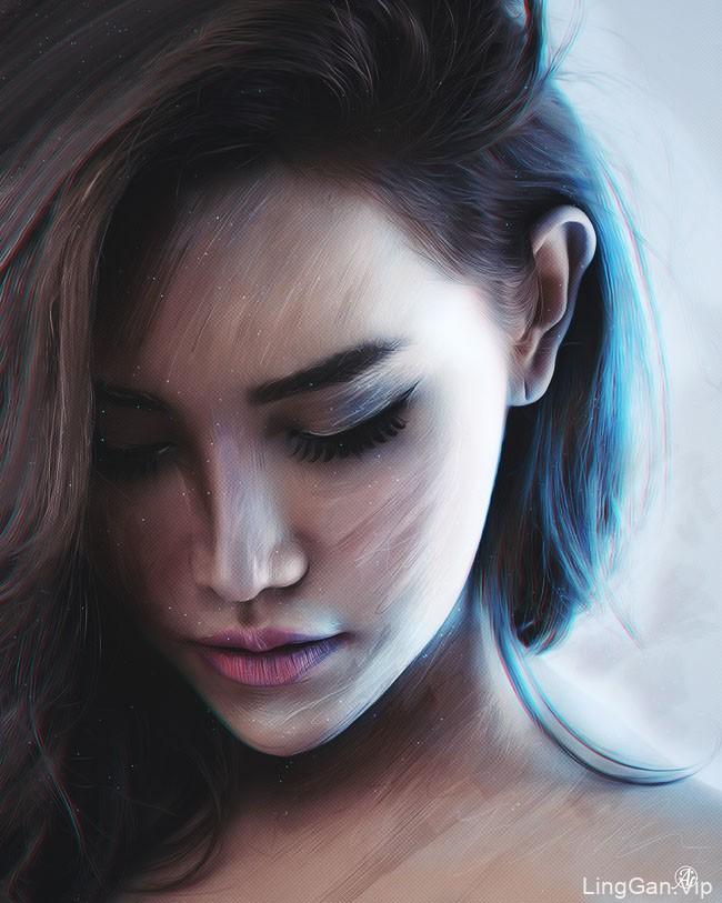 美国Josh Thomas超靓的肖像绘画作品