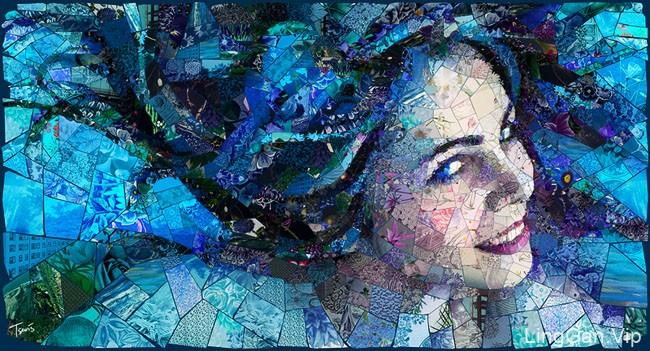 Charis Tsevis马赛克美女艺术插画作品23P