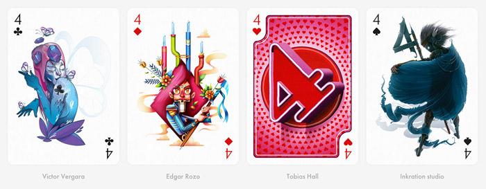 Playing Arts扑克牌美术插画设计欣赏