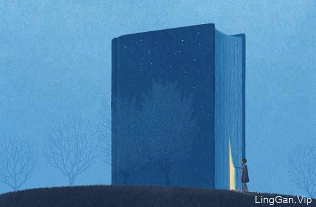 Jungho Lee书主题超现实概念美术插画设计