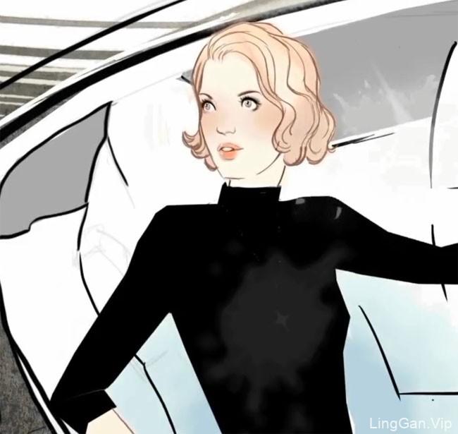 英国优秀插画作品-Miss Led商业广告插画:倩碧