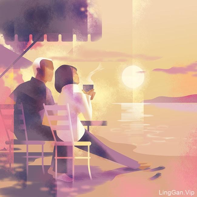国外插画设计之Mads Berg简约风格插图设计