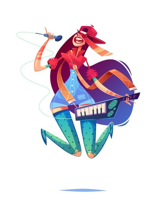 俄罗斯优秀插画作品-Roman另类夏季女孩插画设计