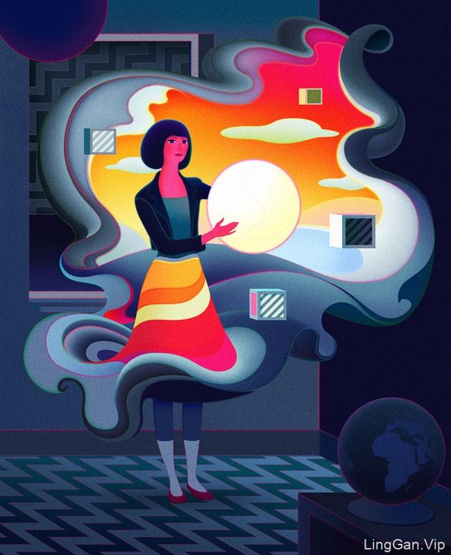 英国Sam Chivers场景人物插画设计