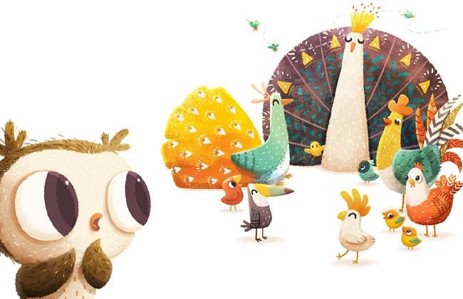 ODO小猫头鹰的故事主题插画设计