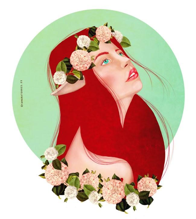 Tamara Torres概念肖像插画设计作品