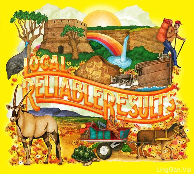 南非MUTI黄页插图设计