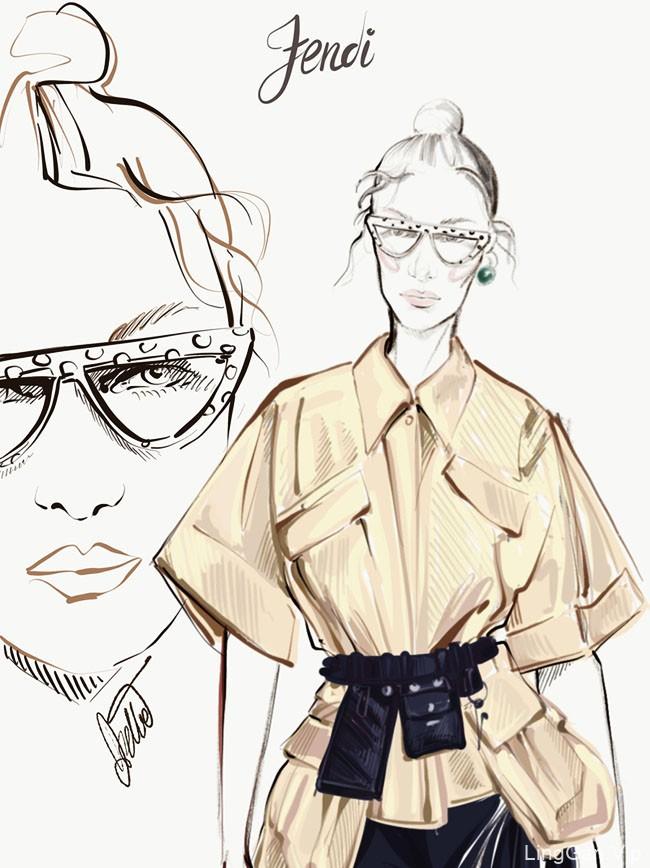意大利Diletta时装插画设计作品