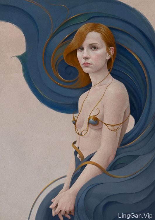 阿根廷Diego Fernandez人物绘画作品No.3