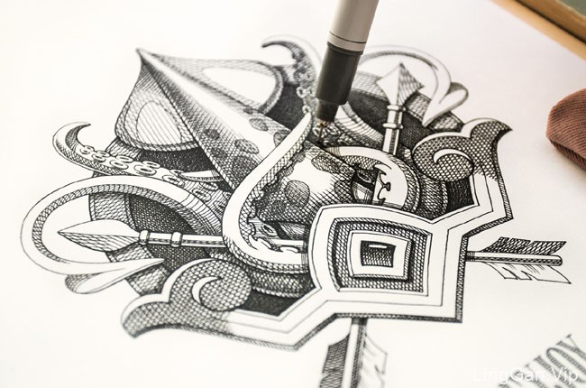 美国NestStrix工作室手绘设计作品