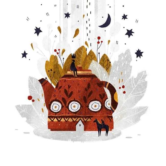 俄罗斯Chaos Ego秋季主题插画设计