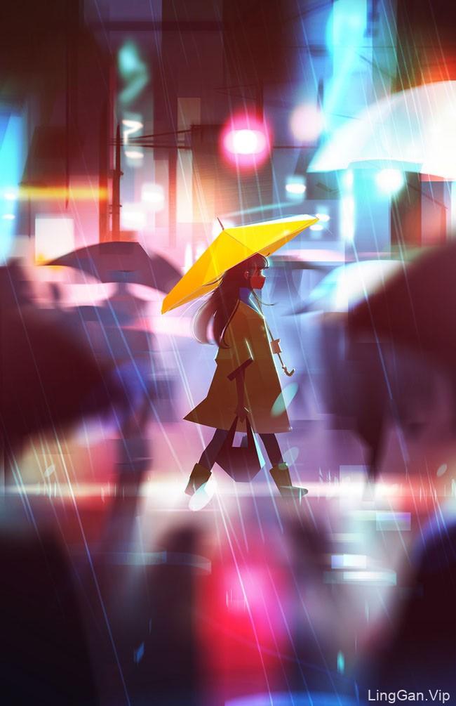 美国Jenny Yu风格人物插画设计