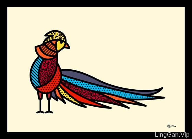 六幅漂亮的鸟类装饰插图设计