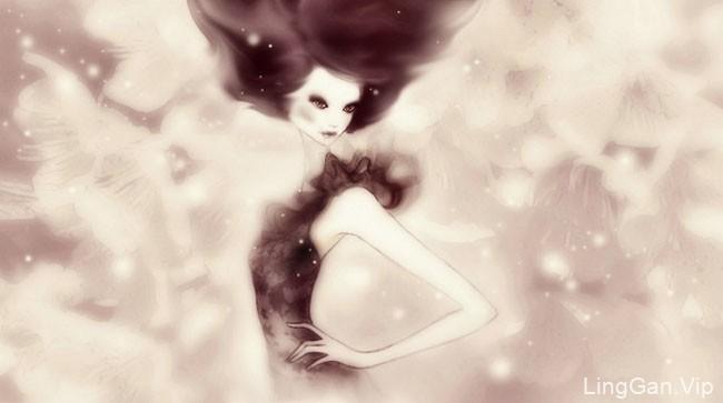 意大利Sabrina Garrasi女性人物插画作品