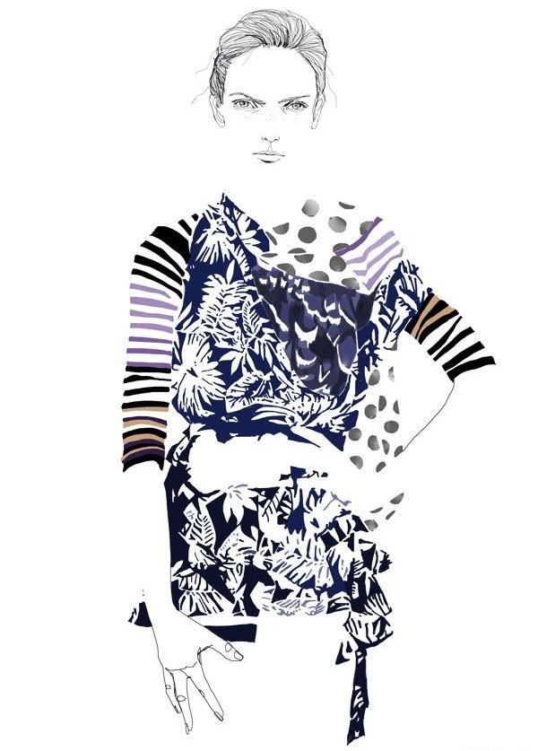 Tracy Turnbull淡雅的女孩人物插画设计