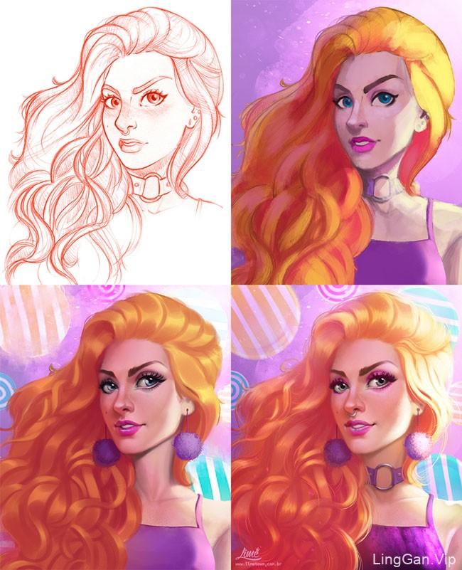 巴西Limetown工作室女性插画作品