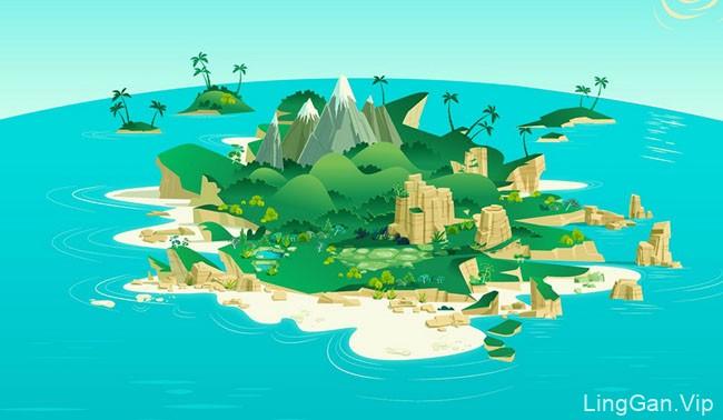 James Gilleard矢量风景插画设计作品