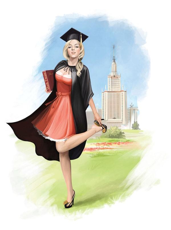 俄罗斯Lize人物插画设计作品