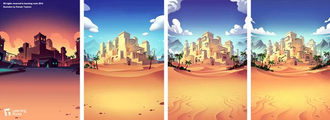 Romain Trystram游戏场景插画设计