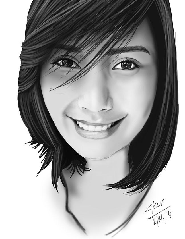 菲律宾Kevin Kosca美女人物插画设计