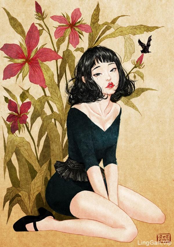 韩国ZIPCY精细的女性人物插画
