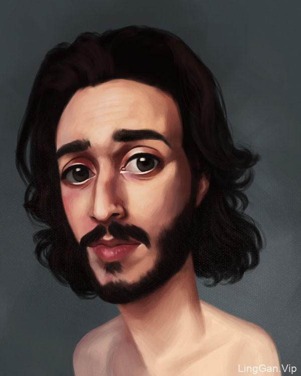 巴西Fabio Alencar风格人物插画作品