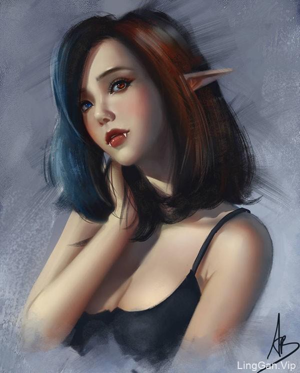 30张越南trungbui42清新的美女插画作品NO.1