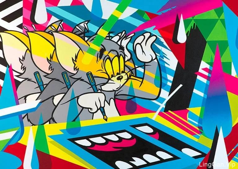 精致的线条和漫画人物结合:Greg Mike波普艺术风格插画