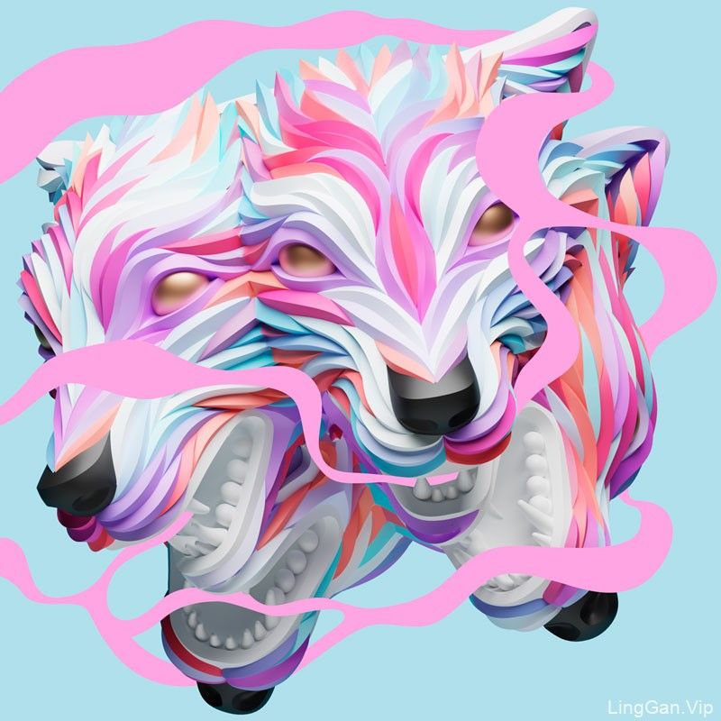 Maxim Shkret独特的动物肖像插画作品