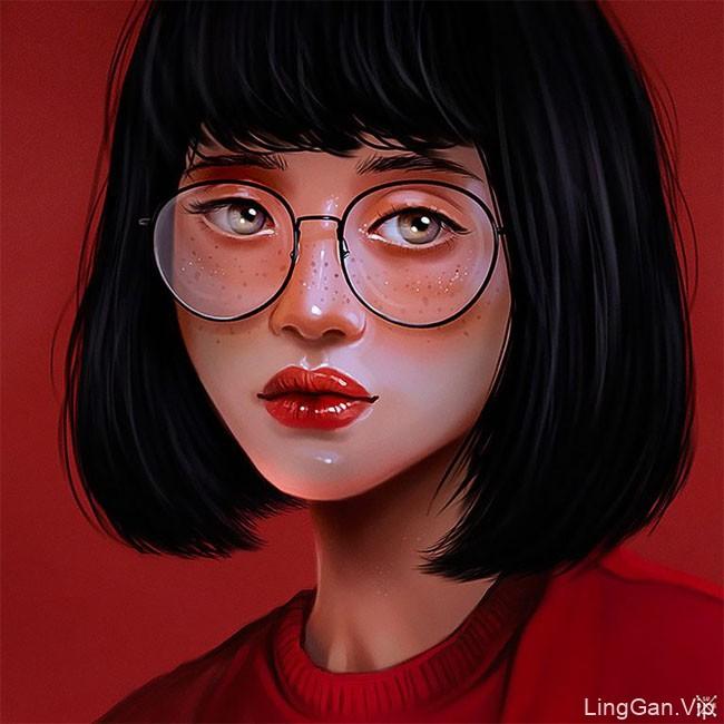 Julia Razumova女性肖像插画设计作品欣赏