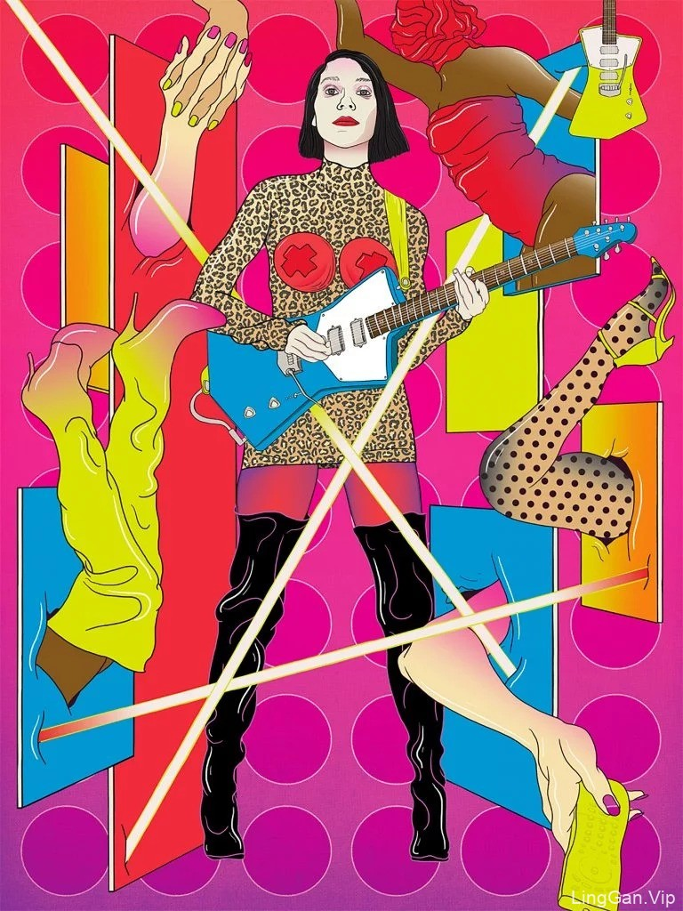 强烈的色彩和线条:Murugiah充满活力的超现实主义插画