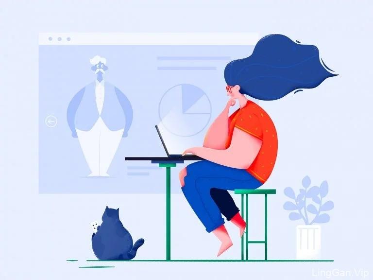 Uran18款可爱卡通人物插画设计作品