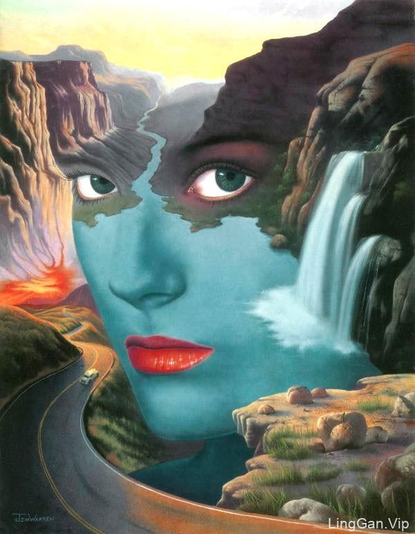 Jim Warren极具想象力的超现实主义插画作品