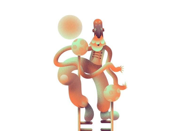 可视化设计!一组人物概念封面