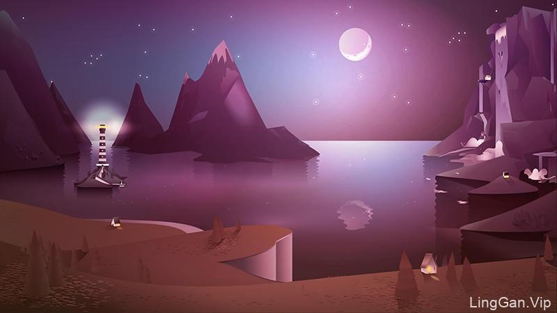 四季分明!14张景观灵感插图