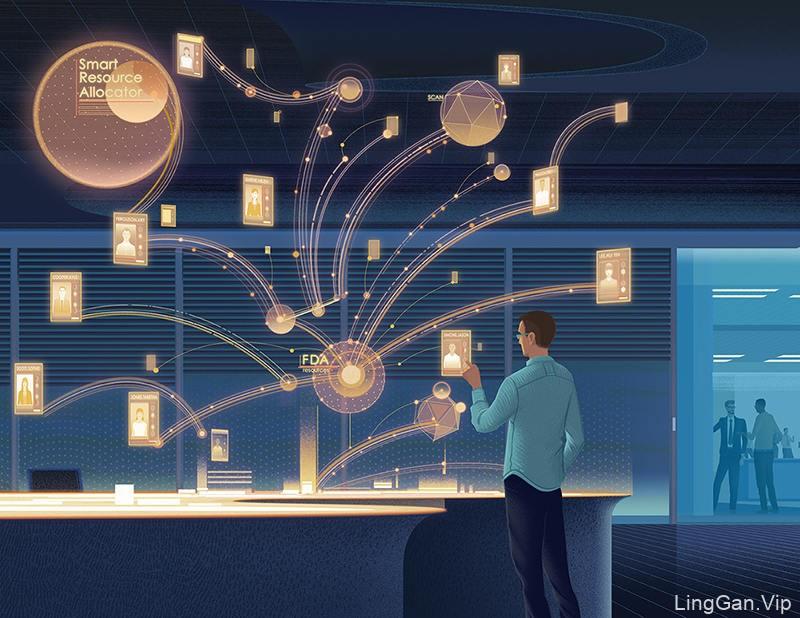 科技感!一组有趣的医疗插图灵感