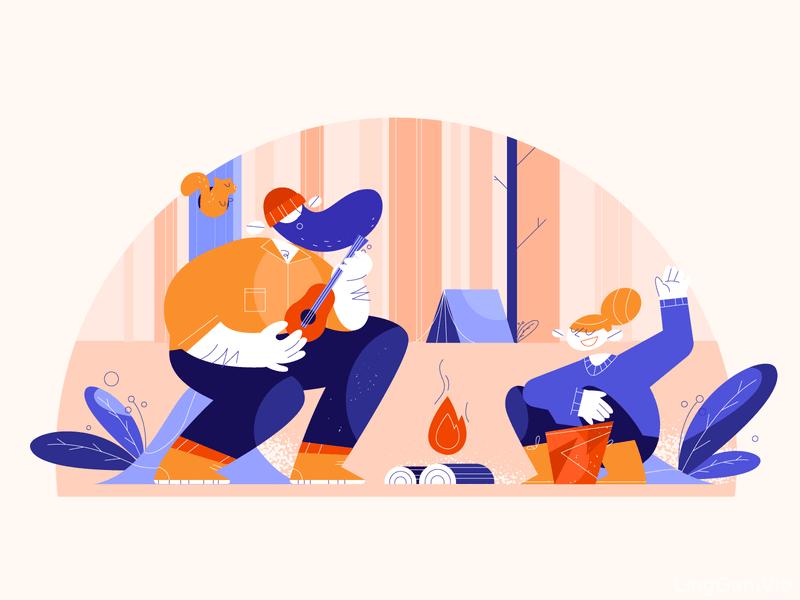 简洁明了的16款网页头图插画设计灵感