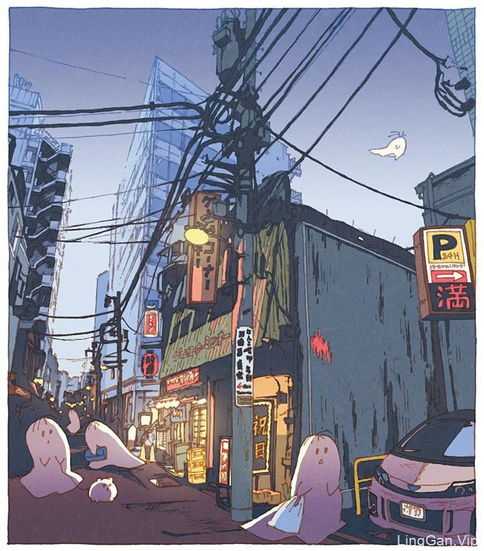 14款日式涂鸦插画灵感