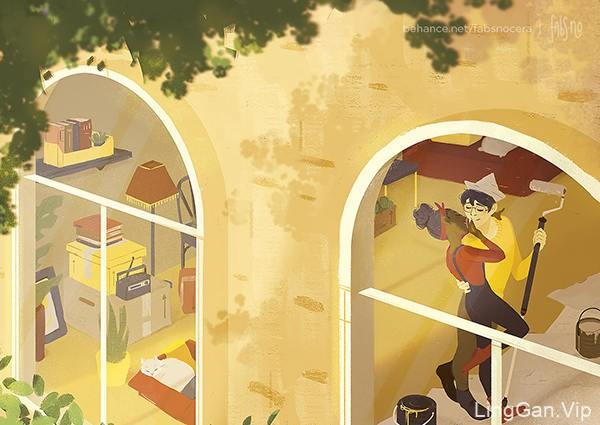完美!一组色彩沉稳的角色插画设计