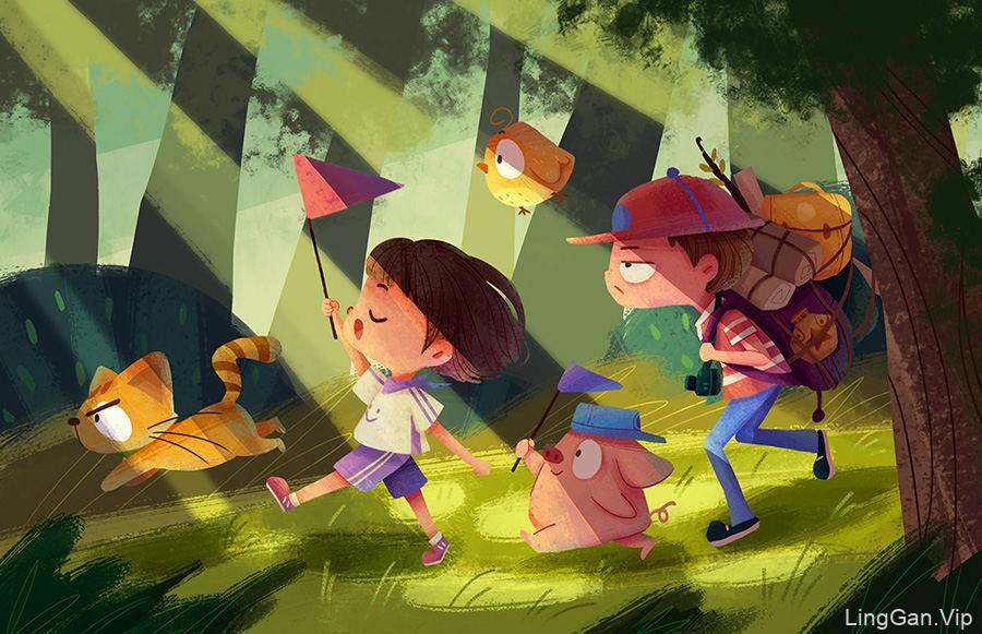 孩子们的世界!一组儿童插画