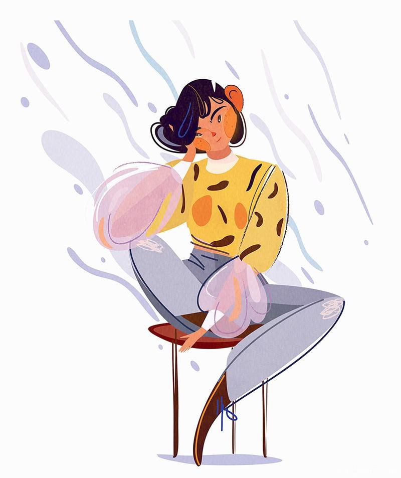 可爱画风!一组少女系插画灵感