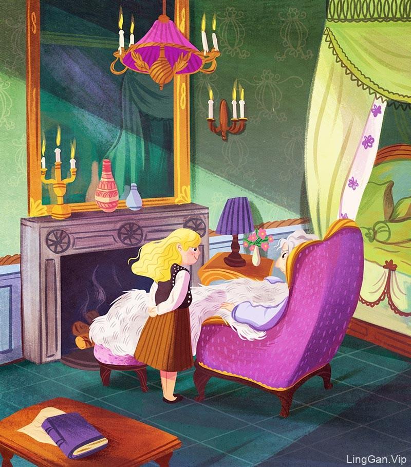 一组古典儿童读物插图灵感