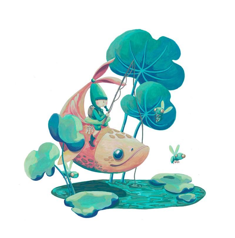可爱的脑洞!一组创意冒险类儿童插画