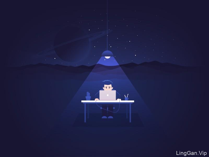 治愈系画风!9款可爱的网页插图