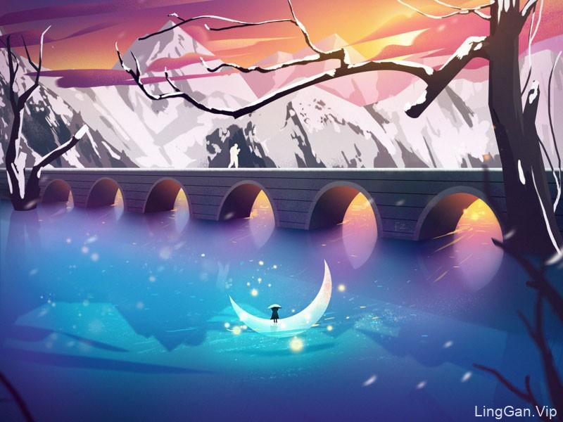 治愈!10款景观插画灵感