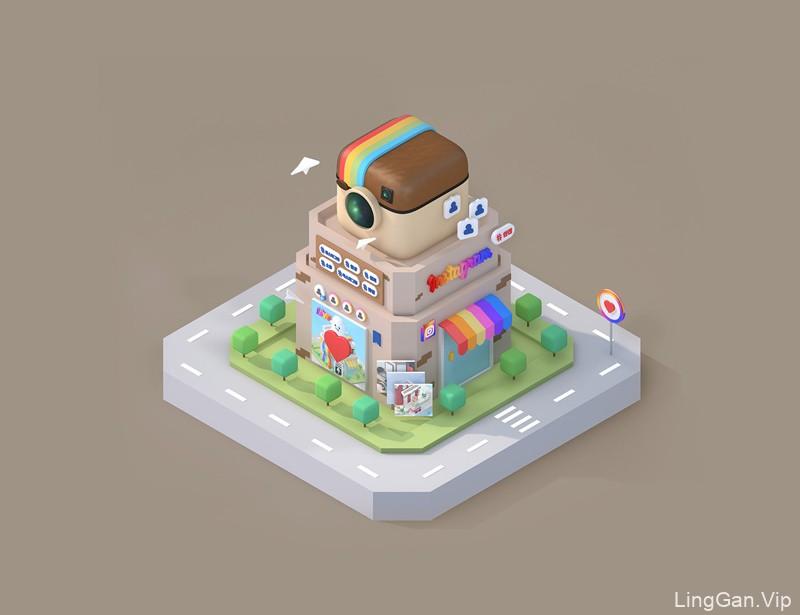 空间感!我有一间2.5D小房子