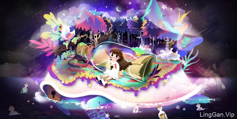 脑洞发散!18款梦幻卡通插画-韩国插画师smiley jo