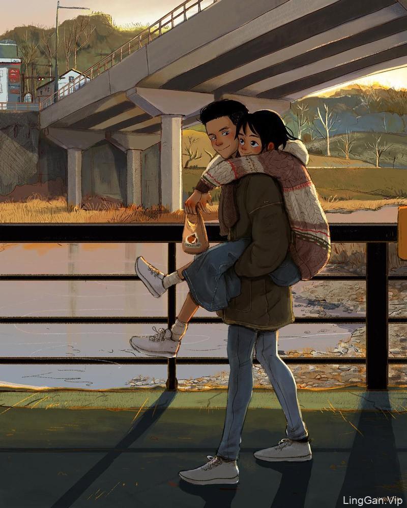 画下温暖!生活中情侣的样子