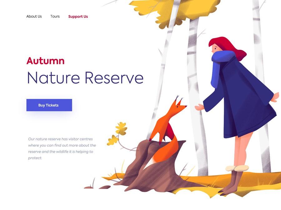 9款网页设计中的插画设计灵感