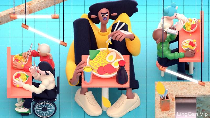 让产品吸睛!一组3D产品插画